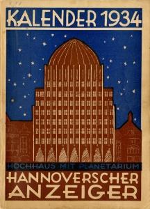 Kalender 1934 - Hannoverscher Anzeiger