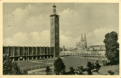 Postkarte Messeturm Köln