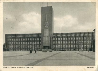 Postkarte Rathaus Rüstringen