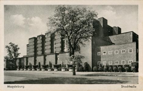 Postkarte Stadhalle Magdeburg