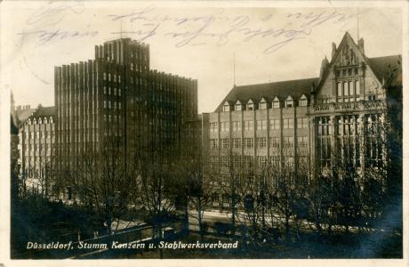 Postkarte Stummhaus Düsseldorf